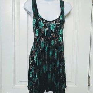 Free People Floral Tank Tunic Small